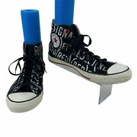 """Converse """"Red"""" Spell Out High Top Sneakers Men's Size 9.5 Black Lace Up Skater"""
