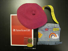 American Girl Ivy's Accessories Beret Denim Bag Coin-Brand New In A Box