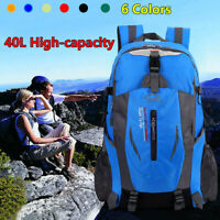 1x 40L Waterproof Outdoor Sports Bag Backpack Travel Hiking Camping Rucksack USA