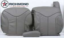 2000-2002 GMC Yukon XL 1500 2500 -Driver Side Complete Leather Seat Covers Gray