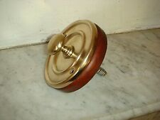 Victorian Door Bell Pull,Antique Brass Front Door Bell Pull,Mahogany Pattress