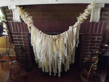 6ft Rag Garland wedding Baby shower Nursery banner Backdrop photo shoot Curtain