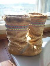 Womens TECNICA Furr Aztec Tribal Print Pastel Orange Pink Yellow boots SZ 39 7.5