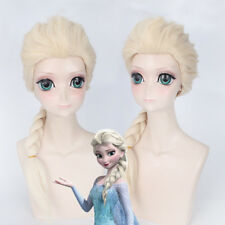 Braid Frozen Elsa Princess  Synthetic hair None Lace Cosplay Wig Bleach Blonde