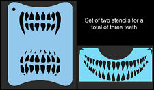 Scary Skull Teeth Face Painting Stencils Halloween FX Makeup Airbrush or Sponge