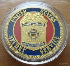 US  Secret Service  24K GOLD  PLATED 40 mm  Challenge  COIN