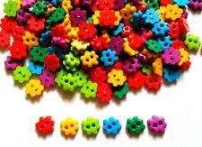 100 pcs Cute tiny flower button 6 mm mix rainbow colors