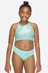 Justice Girl's Size 10 Ribbed Bikini Swim Suit UPF 50+ New with Tags