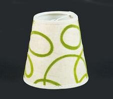 Aufsteck-Lampenschirm Grün Beige Mit Muster Klemmschirm E14