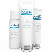 AcneFree 3 Step Acne Treatment Kit Solution For Sensitive Skin