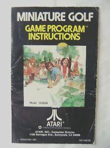 58426 Instruction Booklet - Miniature Golf - Atari 2600 / 7800 (1979) CX 2626