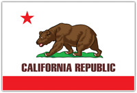 "California State Flag Republic USA Car Bumper Vinyl Sticker Decal 5""X4"""