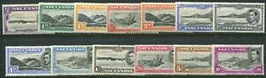 Ascension KGVI 1938-52 perf. 13½ ½d-10s SG 38-47 hinged mint (cat. £514 as u/m)