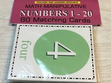 Numbers 1-20 - Flashcards for Preschool 60 Matching Cards - Teaching supplies