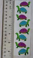 Strip of Walking Turtles Vintage 1990 Stickers Mrs Grossman TURTLES