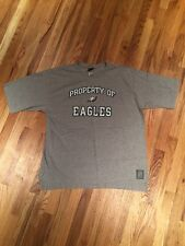 Authentic Gridiron Classic NFL Philadelphia Eagles T-Shirt Grey NEW No Tags XL
