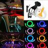 RGB LED Car Interior Fiber Optic Neon EL Wire Strip Light Atmosphere APP Control