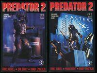 Predator 2 Movie Comic set #1-2 Lot Dark Horse Bagged & Boarded Dan Barry art