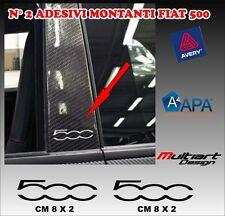 ADESIVI MONTANTI  PER FIAT  NUOVA 500  , TUNING STICKERS PROFESSIONALI