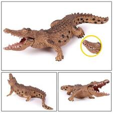 Alligator Crocodile Realistic Figure Solid Plastic Toy Movable Wild Animal Model