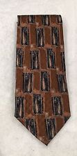 Nice Brown Abstract Necktie Robert Bradford For Erday's Geneva IL Men's Tie