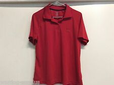 FEMALE WOMAN'S MARATHON GAS STATION PETROLEUM REFINERY RED WORK POLO SIZE LARGE