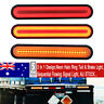 2x 100 LED Flowing Reverse Stop Brake Turn Signal Rear Tail Light Truck Trailer