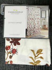 """Threshold Creeping Floral Shower Curtain Pink/White 72"""" x 72"""""""