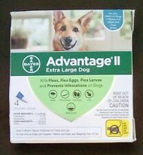 Advantage II Flea control- Dogs & puppies over 55 lbs new w/EPA#. 4 doses