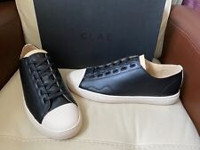 Clae Herbie SP black milled leather trainers, UK Size 10,EUR 44