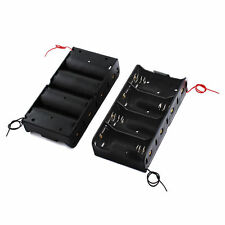 2pcs D Size DC 4 Cells Battery Power Supply Holder Holds Case Box with Wire