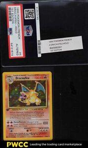 1999 Pokemon French Base Set 1st Edition Holo Dracaufeu Charizard #4 PSA Altered