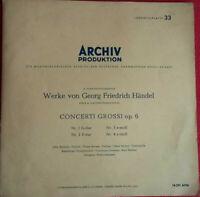 Werke von Händel / Concerti Grossi Op. 6 Nr. 1 - 4 / Archiv Produktion LP Vinyl