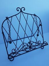 Vintage Style Ornate Metal Cook Book/Tablet Stand/Holder: 28x31x20cm: Home Decor