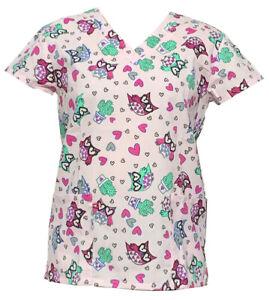 Zikit 365 Women's Fashion Medical Nursing Scrub Tops Part2