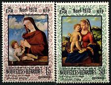 New Hebrides French 1970 SG#F160-1 Christmas MNH Set #D31621