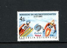 Austria 1985 NORDIC EVENTS SKI CHAMPIONSHIPS SKI JUMPER SC 1301 MNH
