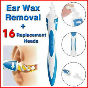 Ear Wax Remover Cleaner Spiral Safe Soft Tip Wax Removal Tool