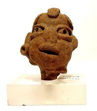 TETE PRECOLOMBIENNE OLMEQUE 800 / 500 BC - ANCIENT PRE-COLUMBIAN OLMEC HEAD