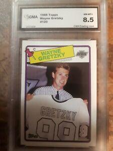 1988-89 Wayne Gretzky Card #120 Topps Graded 8.5 NM-MT+