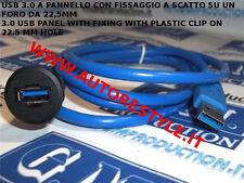 ADATTATORE USB 3.0 DA MASCHIO A FEMMINA AD INCASSO PANNELLO PER AUTO O UFFICIO