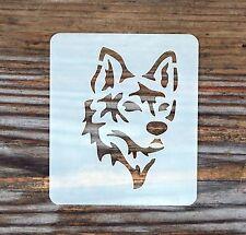 WOLF DOG Face Painting Stencil 7cm x 6cm 190 Micron Lavabile Riutilizzabile MYLAR