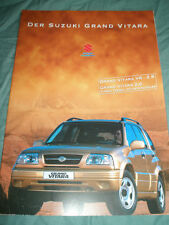 Suzuki Grand Vitara V6 2.5 & 2.0 TD brochure Aug 1998 German text