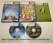 2 Game Lot Xbox 360 Kinect Disneyland Adventures & Kinect Adventures!