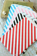 Diagonal Stripe Large Paper Bags wedding party favours gift BIGGER Bitty Bags