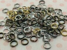 32H 200 SIVER PLATE 6.3mm x3.7mm CRIMP END CAPS//TIPS WITH LOOP ~ NECKLACE~CORD