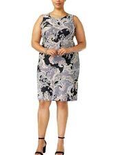Charter Club Womens Black Office Printed Wear to Work Dress Plus 2x BHFO 9625