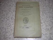 1885.paléographie des chartes et manuscrits / Chassant.moyen age