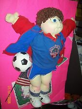 SOFT SCULPTURED CABBAGE PATCH doll OLYMPIC KIDS SOCCER BOY  RARE handsigned
