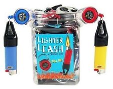 30 Premium Lighter Leash Retractable assorted colors , ONE JAR
